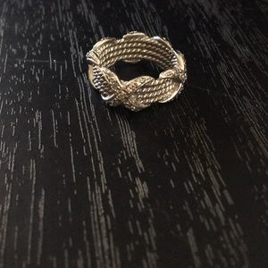 Sterling silver ring with CZ detail